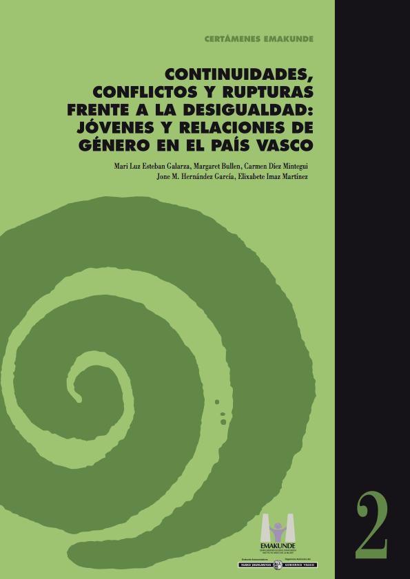 """Portada de """"Continuidades, conflictos y rupturas frente a la desigualdad: jóvenes y relaciones de género en el País Vasco"""""""