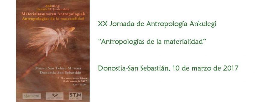 XX Jornada de Antropología Ankulegi (2017)