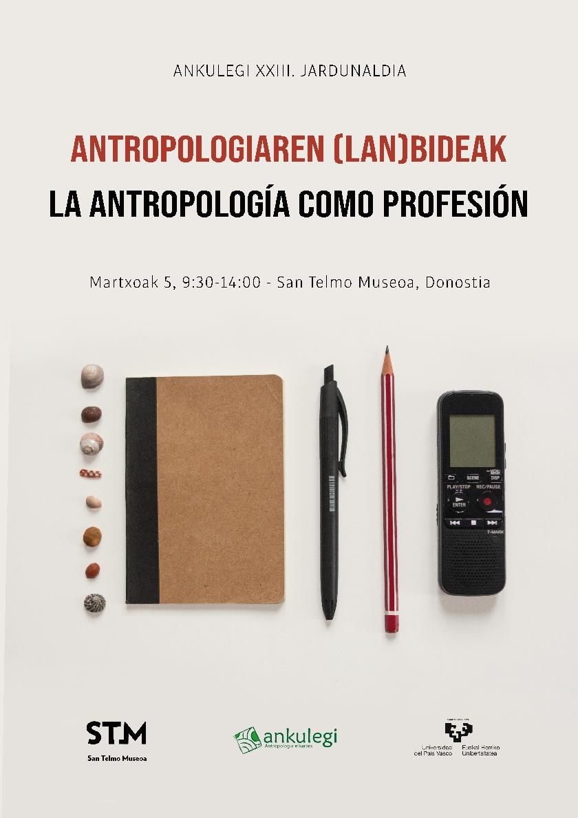Cartel de la XXIII Jornada de Antropología Ankulegi (2021)